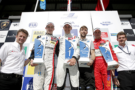 FIA Formel 3 Siegerpodium in Spa<br>Foto: FIA Formel 3 Media